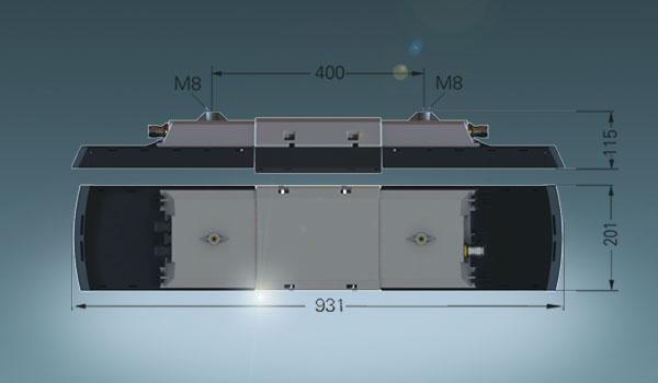 ExLin ist schmaler und flacher als z. B. die eLLK 92 LED Serie